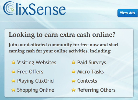 clixsense website