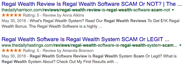 Is Regal Wealth Scam