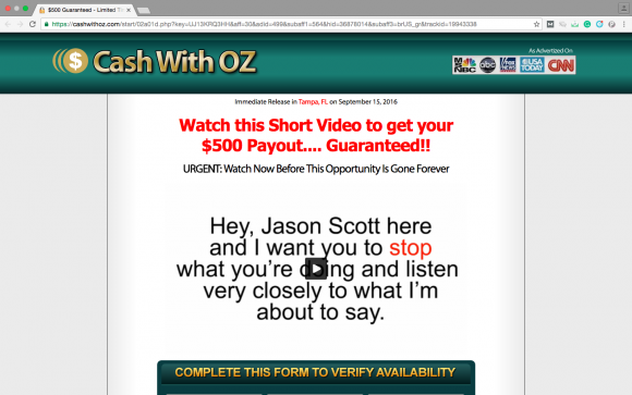 Cash With Oz a Scam