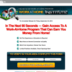 Work at home Institute Scam
