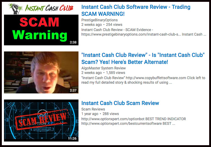 Instant Cash Club by Thomas Jordan is a Busted binary option trading Scam! Read my Instant Cash Review before losing money to this fraudulent autotrader app.
