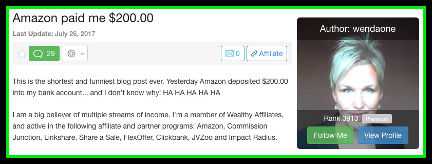 wealthy affiliate income proof